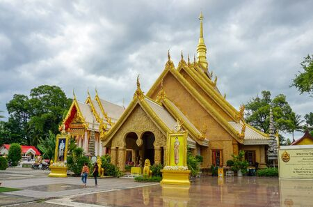 26082019 : ubonratchatani, thailand: wat-mahawanaram Located at wat-mahawanaram(Temple) landmark of  ubonratchatani province in thailand.