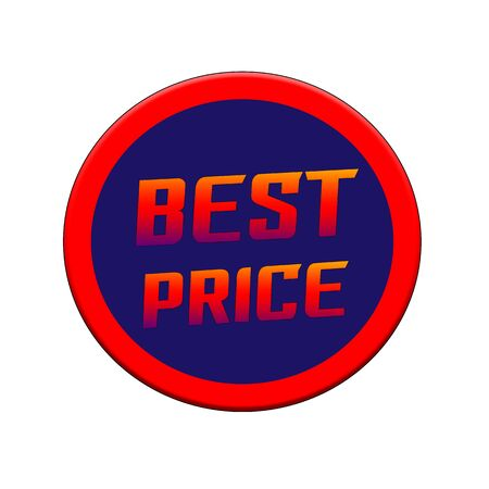 Best price Red-orange Sign or Stamp Text on Blue circle backgroud