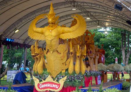 Candle Festival UBON RATCHATHANI, THAILAND - July 13, 2020: