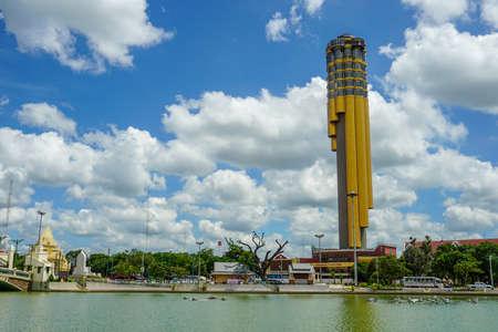 Beautiful landscape of Roi Et Tower ,Roi Et , Thailand