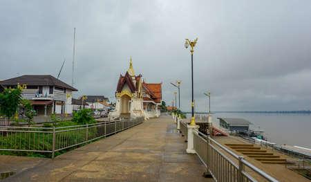 Beautiful landscape mekongriver of amphur thatphanom , Nakhon Phanom,Thailand