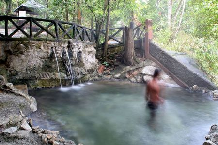 Hot Spring in Malaysia Stock Photo