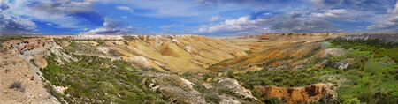 tethys: Landscape of the canyon plateau Ustyurt  The north part of the plateau in Kazakhstan Stock Photo