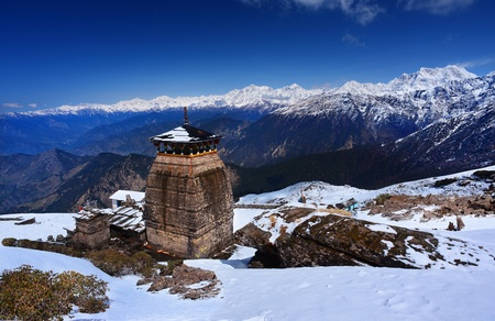 mahabharata: Tungnath is the temple of Lord Shiva, is located on a mountain ridge Tungnath in the state of Uttarakhand, India  The age of this temple - 1000 years