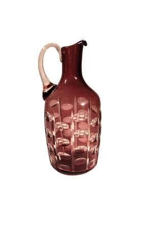 Glass jug isolated on white background Stock Photo