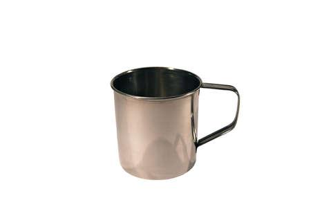 Stainless mug isolated on white background