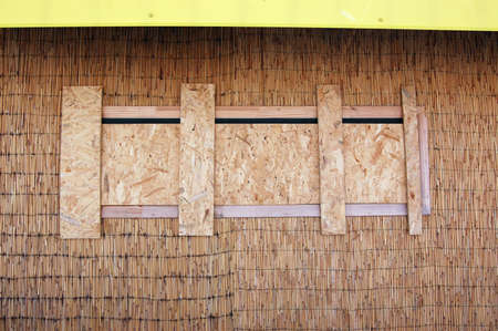 The driven in window & reed wall Stock Photo - 6816397