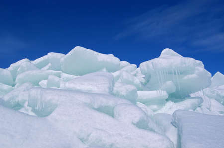 Ice heap Stock Photo