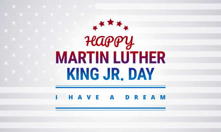Happy Martin Luther King Day national holiday banner design vector illustration beautiful typography.