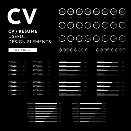 Creative CV design template vector