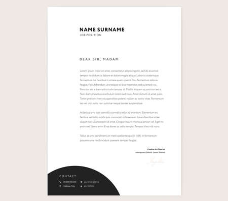 Elegant Letterhead Template Design In Minimalist Style With Icons ...