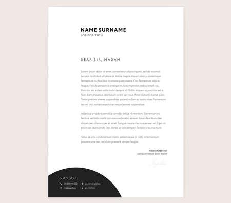 Elegant letterhead template design in minimalist style with icons elegant letterhead template design in minimalist style with icons stock vector 98087688 maxwellsz