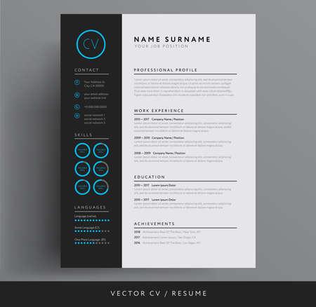 Stylish CV or resume template