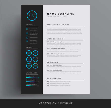 Stylish CV or resume template