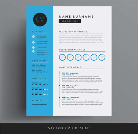CV or resume design template