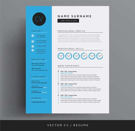 CV or resume design template
