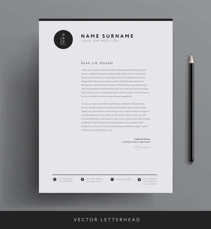 Elegant letterhead template design
