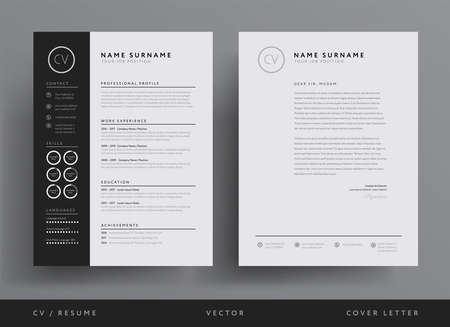 Professional resume and letterhead template design