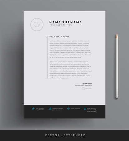 Elegant Letterhead Template Design In Minimalist Style Royalty Free ...
