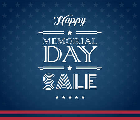 Memorial Day Sale American design background vector