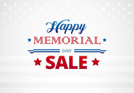 Happy Memorial Day greetings banner background vector illustration