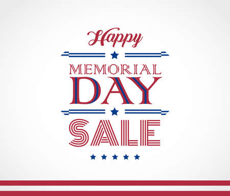 Memorial Day Sale beautiful lettering vector background