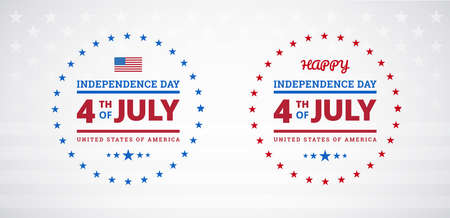 Happy 4th of July Independence Day USA sale banner or logo with American flag - vector illustration for 4th of July event in the United States of America