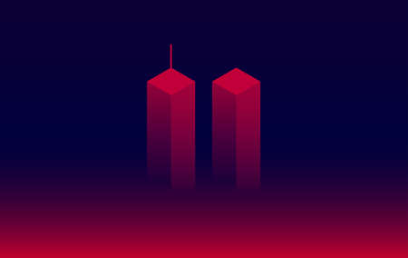 911 Attack Remembrance Memorial Day vector illustration. September 11 2001, USA,  the United States National Remembrance Day abstract conceptual background Ilustração