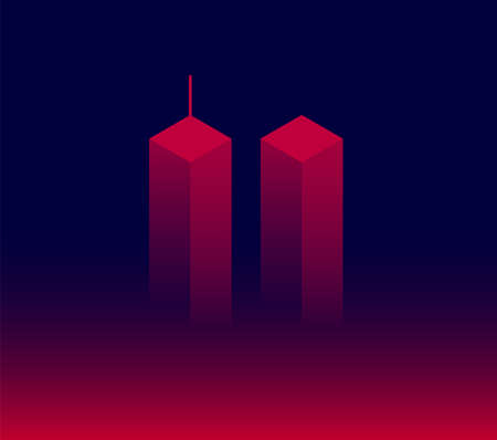 911 Attack Remembrance Memorial Day vector illustration. September 11 2001, USA,  the United States National Remembrance Day abstract conceptual background Иллюстрация