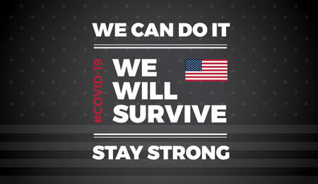 Patriotic background with inspirational quote about template for USA news, background, banner, poster, website, brochure cover -  illustration