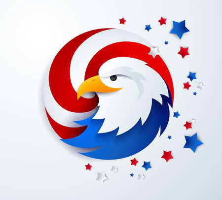 United States eagle head abstract template - high-quality illustration