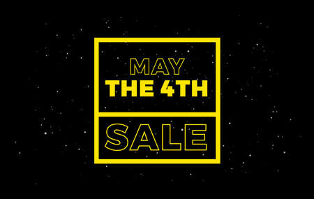 May the 4th Sale background banner - vector illustration yellow text