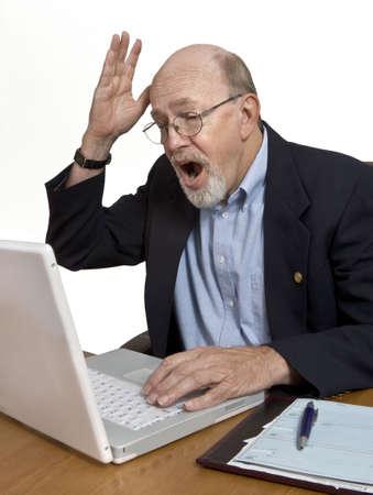 sgomento: Cattive notizie o di un computer glitch risultati in un alto scoppio di sgomento.