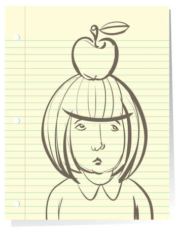 has: Drawing of sad little girl student that doesnt want to go back to school and has become a casualty of the cookie-cutter approach to public education. Psychological concept. Illustration