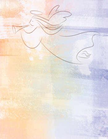 Christmas Angel Illustratie op Geweven Achtergrond Stockfoto
