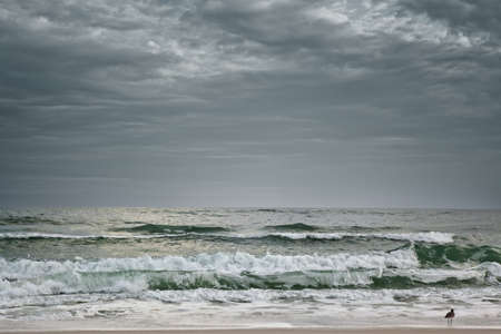 Stormy dramatic Florida ocean and beach photo
