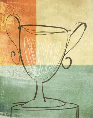 gestural: Loving Cup Trophy Illustration