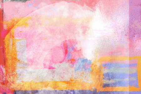 pinks: Bright painterly abstract background of pinks, magenta, gold and blues   varying shades of all  Can be used as standalone art or as background or design element