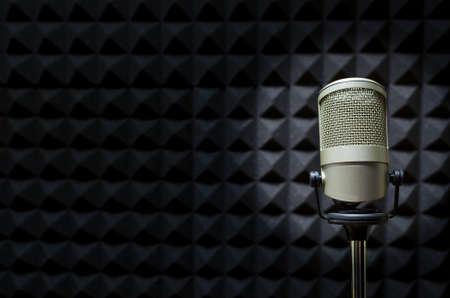 Microphone in studio Standard-Bild