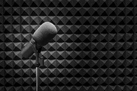 recording studio: microphone