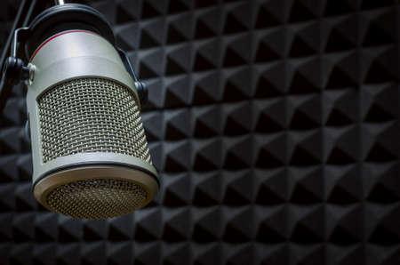 studio microphone Stock Photo