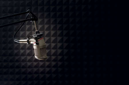 recordings: studio microphone Stock Photo