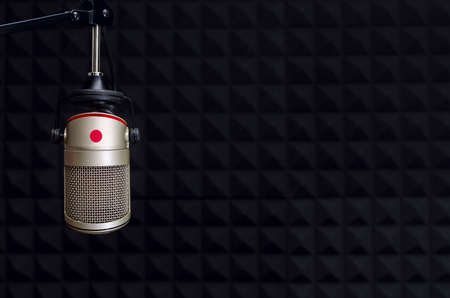 studio microphone Standard-Bild