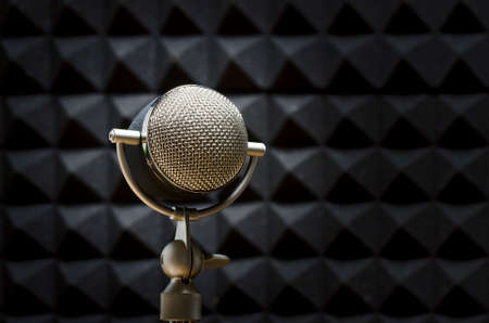 professional microphone Stock Photo