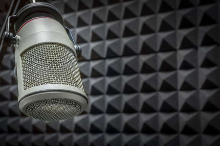 Background with professional microphone Standard-Bild