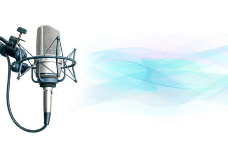 Background with professional microphone