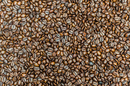 background: roasted coffee beans
