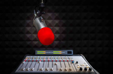 Microphone, sound mixer and on air sign