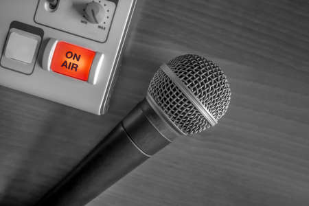 microphone and recording device Stock Photo