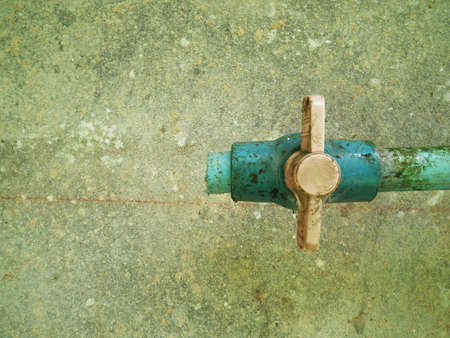 water valve and green mold  photo